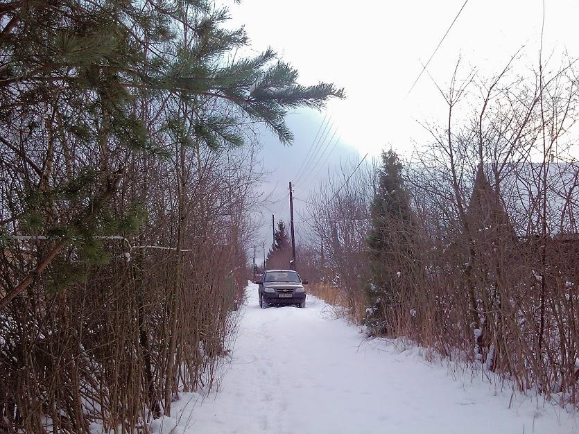 Шевроле Нива зимой
